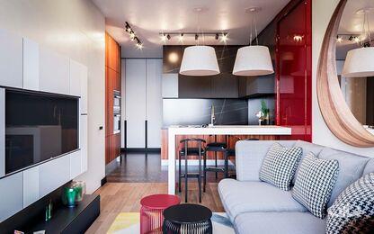 Дизайн интерьера однокомнатной квартиры в ЖК Достояние | Фото №7