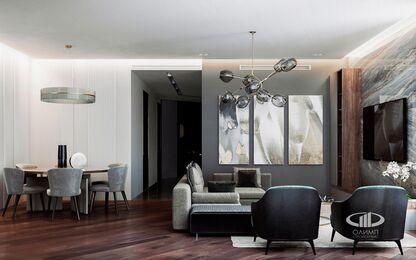 Дизайн интерьера квартиры в ЖК Резиденция Монэ | Фото №2