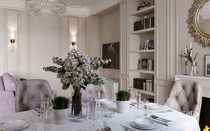 Интерьер квартиры в классическом стиле | ЖК Достояние | 3d-визуализация №5