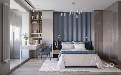 Дизайн интерьера большой квартиры в современном стиле | 3d-визуализация №13