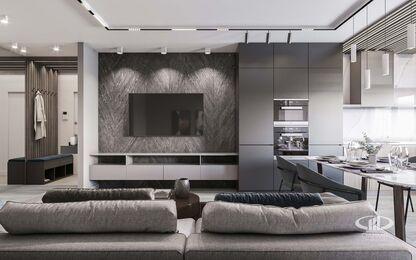 Дизайн интерьера большой квартиры в современном стиле | 3d-визуализация №3