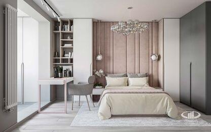 Дизайн интерьера большой квартиры в современном стиле | 3d-визуализация №5