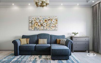 Дизайн интерьера квартиры в стиле современная классика ЖК Розмарин | Фото №1