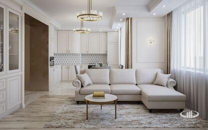 Дизайн интерьера 3-комнатной квартиры в ЖК Искра Парк | Фото №1