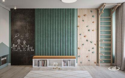Дизайн интерьера трехкомнатной квары в ЖК Green park | Детская комната фото №5