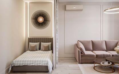 Дизайн интерьера квартиры-студии в ЖК Династия   Фото №8