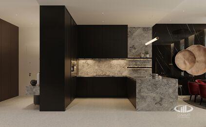 ЗD-визуализация дизайна интерьера квартиры в ЖК Садовые Кварталы в стиле современный минимализм | Фото №5