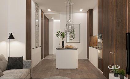 Визуализация интерьера квартиры в ЖК Balchug Viewpoint | Современный стиль | Фото №7