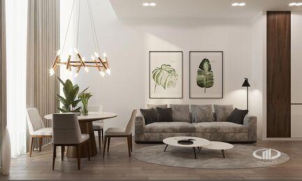 Визуализация интерьера квартиры в ЖК Balchug Viewpoint | Современный стиль | Фото №3