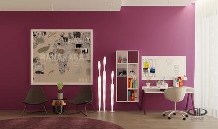 ЗD-визуализация дизайна интерьера квартиры в ЖК Садовые Кварталы в стиле современный минимализм | Фото №34