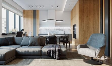 Дизайн интерьера квартиры в стиле минимализм в ЖК Лица | Фото №3