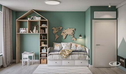 Дизайн интерьера трехкомнатной квары в ЖК Green park | Детская комната фото №4