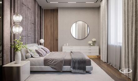 Дизайн интерьера квартиры в ЖК Город на Реке Тушино-2018 | Фото №13 | Спальня