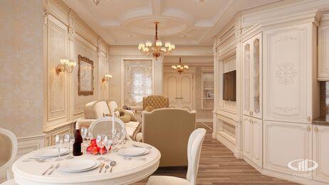 Дизайн интерьера квартиры в классическом стиле | Визуализация №2