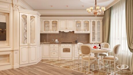 Дизайн интерьера квартиры в классическом стиле | Визуализация №3