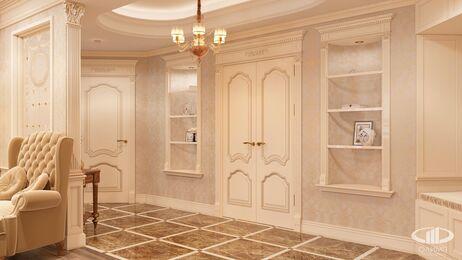 Дизайн интерьера квартиры в классическом стиле | Визуализация №6