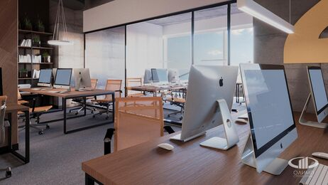 Дизайн интерьера co-working офиса | Фото №10
