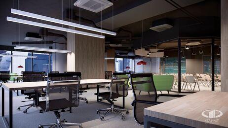Дизайн интерьера co-working офиса | Фото №7