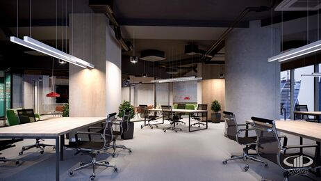 Дизайн интерьера co-working офиса | Фото №8