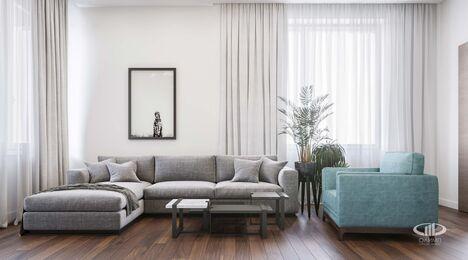 Дизайн интерьера трехкомнатной квартиры в ЖК Достояние современный стиль | 3d-визуализация №4