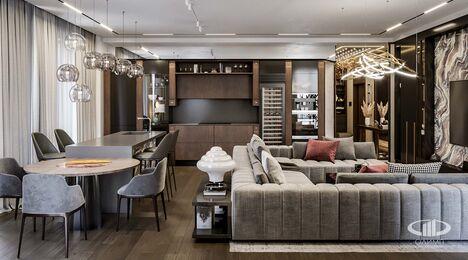 Дизайн 3-комнатной квартиры в ЖК Вишневый сад | Фото №1