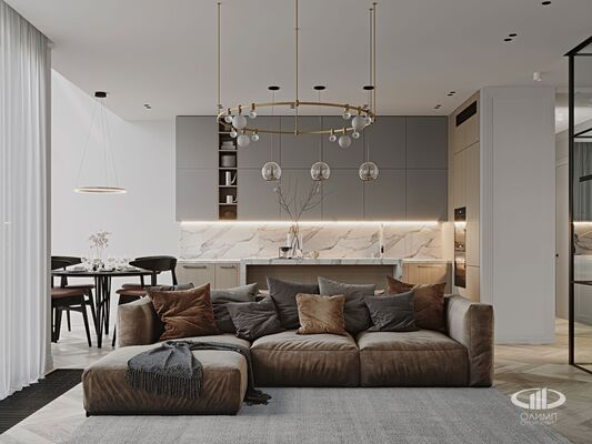 Дизайн интерьера 3-х комнатной квартиры в ЖК Balchug Viewpoint | Фото №8
