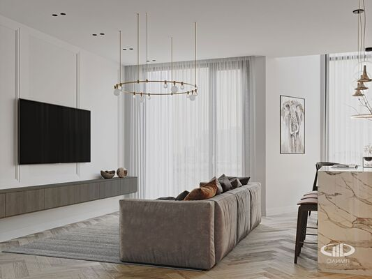 Дизайн интерьера 3-х комнатной квартиры в ЖК Balchug Viewpoint | Фото №7